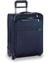 "Briggs & Riley Baseline International 21"" 2-wheel Softside Carry-on Wide-body - Blue"
