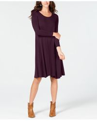 Style & Co. Swing Dress, Created For Macy's - Blue