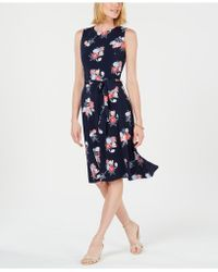 Charter Club - Petite Floral-print Midi Dress, Created For Macy's - Lyst