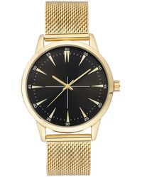 INC International Concepts Stainless Steel Mesh Bracelet Watch 45mm, Created For Macy's - Metallic