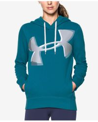 Under Armour - Favorite Fleece Exploded Logo Hoodie - Lyst