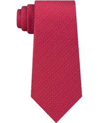 Kenneth Cole Reaction Speckle Solid Slim Tie - Red