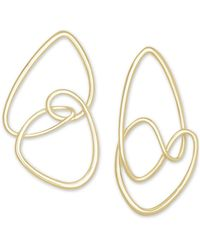 Kendra Scott - 14k Gold-plated Abstract Statement Earrings - Lyst