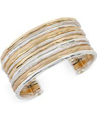 Robert Lee Morris Two-tone Waide Banded Cuff Bracelet - Metallic