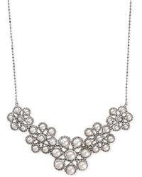 Effy Collection - Effy Cultured Freshwater Pearl Cluster Frontal Necklace In Sterling Silver (3-1/2mm) - Lyst