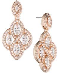 Anne Klein   Marquise Crystal Drop Earrings   Lyst