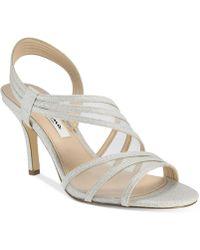 Nina - Vitalia Asymmetrical Sandals - Lyst