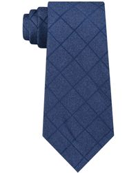 Michael Kors - Unsolid Solid Grid Silk Tie - Lyst