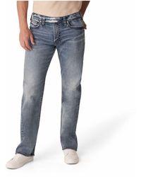 Silver Jeans Co. Medium Indigo Wash Straight Leg Jeans - Blue