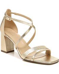 Naturalizer Tiff Ankle Strap Sandals - Metallic