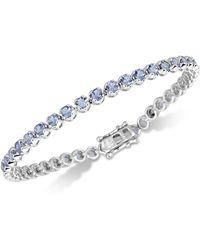 Macy's - Tanzanite Link Bracelet (4 Ct. T.w.) In Sterling Silver - Lyst