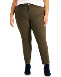 Style & Co. Plus Size High-rise Straight Jeans, Created For Macy's - Green