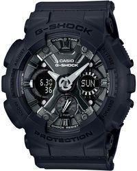 G-Shock   Women's Analog-digital Black Resin Strap Watch 46mm Gmas120mf-1a   Lyst