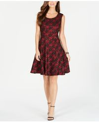 INC International Concepts - Inc Sparkly Lace Skater Dress, Created For Macy's - Lyst