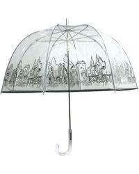 London Fog Bubble Stick Umbrella - Multicolour