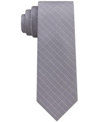 DKNY Grid Slim Tie - Blue
