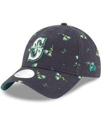 wholesale dealer 9304a 56f86 KTZ - Seattle Mariners Blossom 9twenty Strapback Cap - Lyst