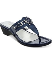 f56370bd6d0c7 Lyst - Tommy Hilfiger Women S Laycie Thong Sandals in Pink