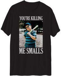 Hybrid Sandlot Killing Me Graphic Short Sleeves T-shirt - Black