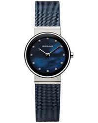 Bering Ladies' Classic Stainless Mesh Watch - Blue