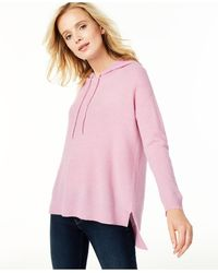 Charter Club Cashmere Thermal Hoodie Sweater, Regular & Petite Sizes, Created For Macy's - Pink