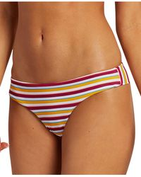 Volcom Juniors' Striped Bikini Bottoms - Multicolor
