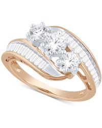 Macy's - Diamond Bypass Ring In 14k Gold, White Gold Or Rose Gold (1-1/2 Ct. T.w.) - Lyst