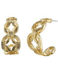 2028 Gold-tone Hoop Earrings - Metallic