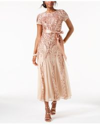 R & M Richards - Petite Sequined Gown - Lyst