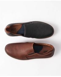 Johnston & Murphy - Walden Embossed Slip-on Trainers - Lyst