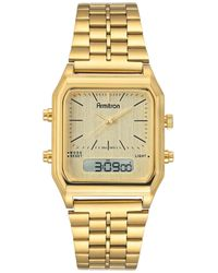 Armitron Analog-digital Gold-tone Stainless Steel Bracelet Watch 32.5mm - Metallic
