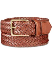 Cole Haan - Woven Leather Belt - Lyst