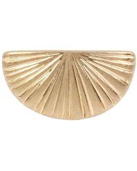 Robert Lee Morris Textured Signet Ring In Gold-tone Metal - Metallic