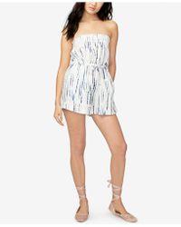 955f1d03a1b3 RACHEL Rachel Roy - Tie-dyed Strapless Romper - Lyst