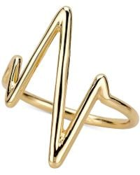 Sarah Chloe - Heartbeat Ring In Sterling Silver Or 14k Gold-plated Sterling Silver - Lyst