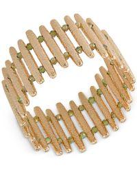 ABS By Allen Schwartz - Gold-tone Bar Stretch Bracelet - Lyst