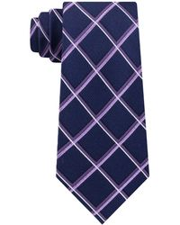 Michael Kors Classic Multi-grid Silk Tie - Purple