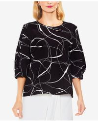 Vince Camuto - Printed Full-sleeve Blouse - Lyst