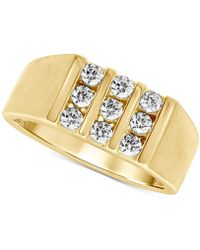 Macy's Diamond Three-row Ring (3/4 Ct. T.w.) In 10k Gold - Metallic