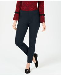 Charter Club Seamed Pull-on Pants, Created For Macy's - Blue