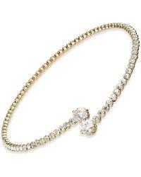 Joan Boyce - Crystal Bypass Collar Necklace - Lyst