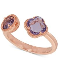 Macy's - Amethyst Cuff Ring (1-9/10 Ct. T.w.) In 18k Rose Gold-plated Sterling Silver - Lyst