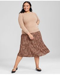 Charter Club Plus Size Cashmere Crewneck Sweater, Created For Macy's - Multicolour