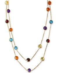 Effy Collection - Multi-gemstone Long Strand Necklace (28-9/10 Ct. T.w.) In 14k Gold - Lyst