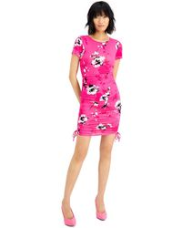 Bar Iii Ruched Bodycon Dress, Created For Macy's - Pink