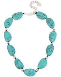 """Robert Lee Morris - Silver-tone Colored Stone Collar Necklace, 17-1/2"""" + 3"""" Extender - Lyst"""