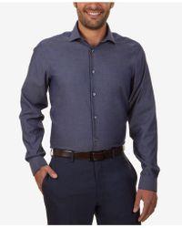 CALVIN KLEIN 205W39NYC - Steel Men's Slim-fit Non-iron Performance Solid Dress Shirt - Lyst