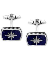 Effy Lapis Lazuli (16-1/2 X 12mm) Starburst Cuff Links In Sterling Silver - Metallic