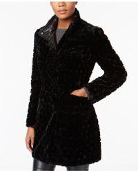 Via Spiga - Reversible Faux Fur Coat - Lyst