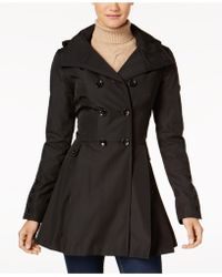CALVIN KLEIN 205W39NYC - Skirted Hooded Raincoat - Lyst